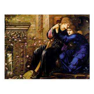 Love among the ruins Pre-Raphaelite Art Postcard
