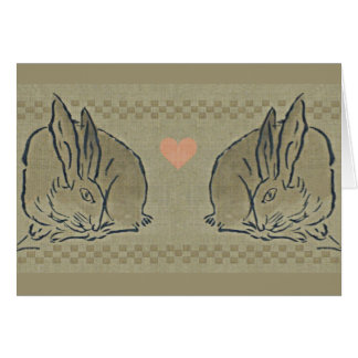 Love - Amorous Spring Hares Card