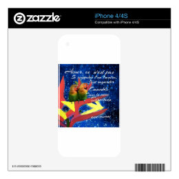 Love , Amour, message iPhone 4 Skins