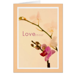 Love Amour Orchid Card