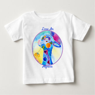 Love An Alpaca T Shirt Purples & Blues