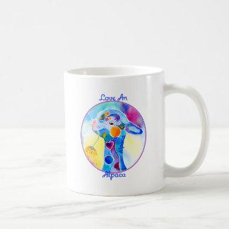 Love An Alpaca T Shirt Purples & Blues Coffee Mug