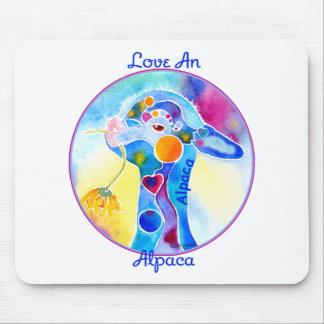 Love An Alpaca T Shirt Purples & Blues Mouse Pad