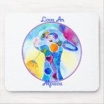 Love An Alpaca T Shirt Purples & Blues Mousepad