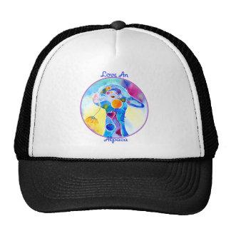Love An Alpaca T Shirt Purples & Blues Trucker Hat