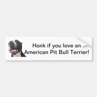 Love an American Pit Bull Terrier Bumper Sticker Car Bumper Sticker