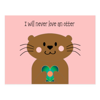 Love An Otter Post Card