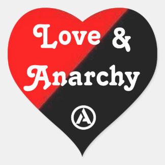 Love Anarchy heart sticker