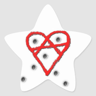 Love Anarchy Symbol Star Sticker