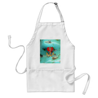 Love Anchor on-a Turquoise Background MultipleGifs Adult Apron