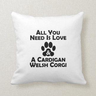 Love And A Cardigan Welsh Corgi Throw Pillow