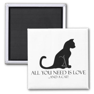 Love And A Cat Magnet
