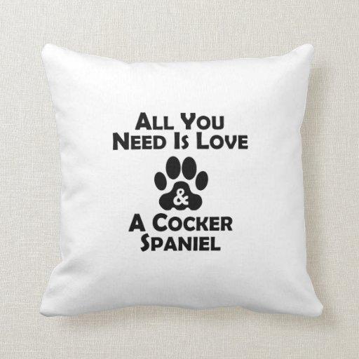 Love And A Cocker Spaniel Pillows