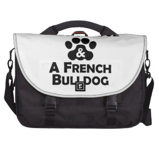 Love And A French Bulldog Laptop Bags