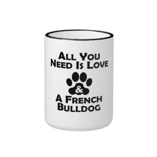 Love And A French Bulldog Mug