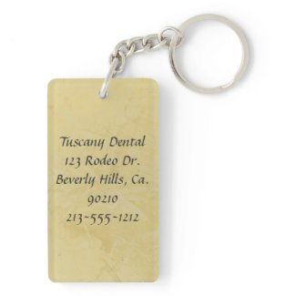 Love And A Good Dentist Rectangle Acrylic Key Chains