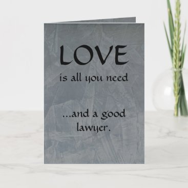 Love And A Good Lawyer Thank You Card