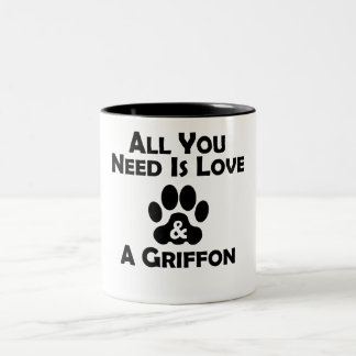 Love And A Griffon Mugs