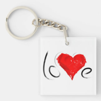 ***LOVE AND A HEART*** KEYCHAIN