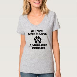 Love And A Miniature Pinscher Tee Shirt