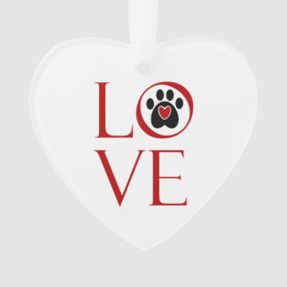 Love and a Paw Print Ornament