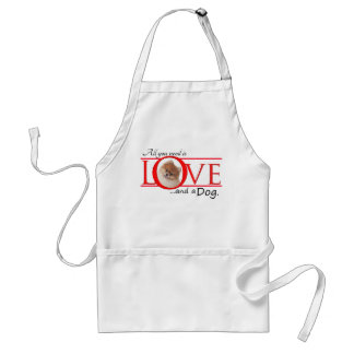 Love and a Pomeranian Barbeque/Grooming Apron