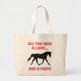 Love and a Pony Large Tote Bag