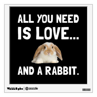 Love And A Rabbit Wall Decal