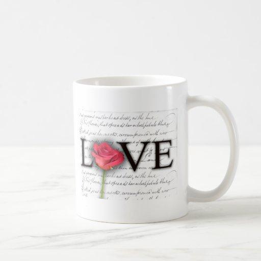 Love and a rose coffee mug