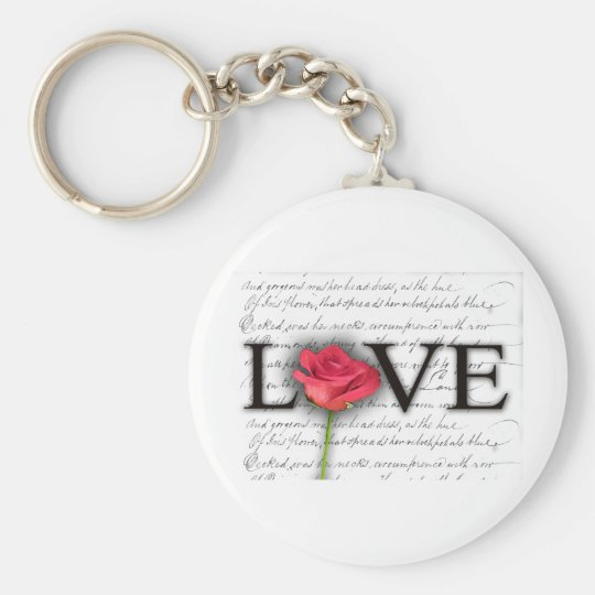 Love and a rose keychain