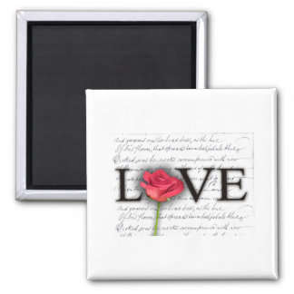 Love and a rose magnets