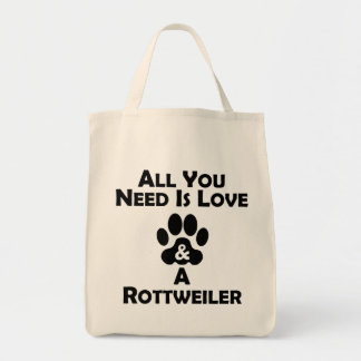 Love And A Rottweiler Tote Bag