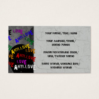 Love and Anti-Love Business Card