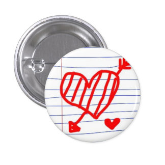 love and arrow doodle pinback buttons