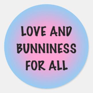 Love and Bunniness Classic Round Sticker