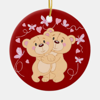 Love and Butterflies Christmas Ornament