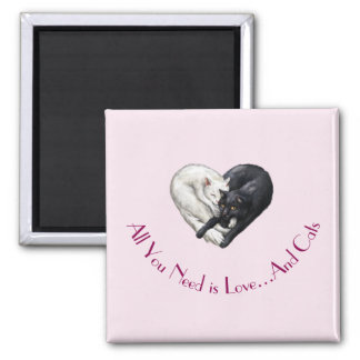 """Love and Cats"" Magnet"