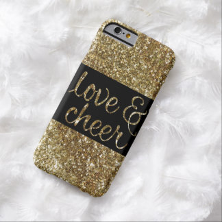 Love and Cheer Glitter Shiny Effect Christmas Barely There iPhone 6 Case