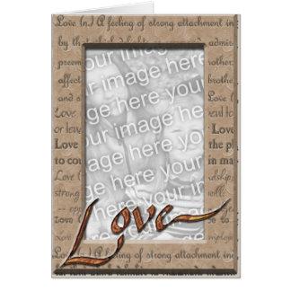 Love and Cherish Photo Card