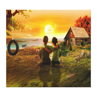 Love and Childhood Friendship Wall Canvas Prints