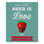 Love and Chocolate print or poster