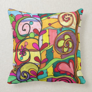 Love and Color Throw Pillow