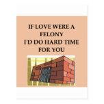 love and crime postcard