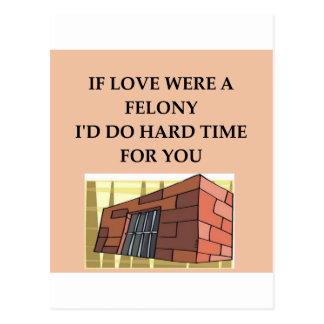 love and crime postcards