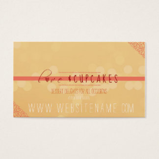 love and cupcakes business card