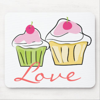 Love and Cupcakes Mouse pad