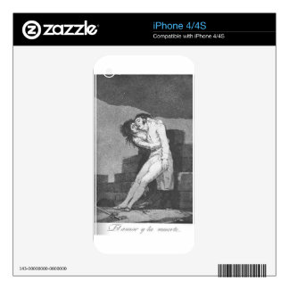 Love and Death by Francisco Goya Skin For iPhone 4