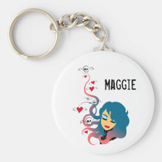 Love and death in equal measures basic round button keychain