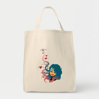 Love and death in equal measures tote bag