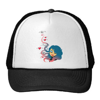 Love and death in equal measures trucker hat